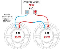 speaker impedance, power handling and wiring amplified parts wiring door speakers to amp diagram example multiple speaker series wiring