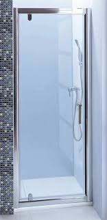 lineaaqua melrose 24 x 75 shower door single pivot safety tempered glass door reversible with chrome finish