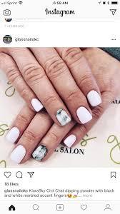 kiara sky chit chat dipping powder w white marble sns powder powder nails
