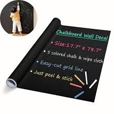diy chalkboard decals removable washable blackboard wall stickers for refrigerator kitchen cabinets black