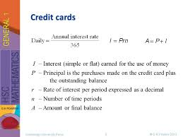 how credit cards interest calculated