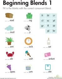 She'll get to practice writing a few words with consonant clusters, or consonant blends. First Grade Phonics Spelling Worksheets Beginning Blends 1 Education At Repinned Net