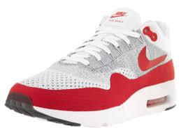nike running shoes red 2016. fast delivery summer nike men\u0027s air max 1 ultra flyknit running shoe white/university red shoes 2016