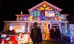 beautiful christmas lights on houses. Interesting Lights House With Christmas Lights Intended Beautiful Lights On Houses T