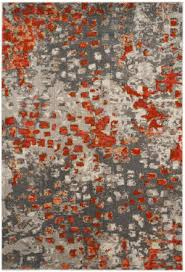 safavieh monaco mnc225h grey orange area rug