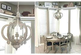 mini wood chandelier distressed rustic chandeliers french country white decor stea