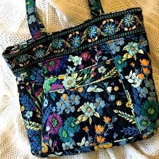Vera Bradley Discontinued Patterns Unique Vera Bradley Bags Midnight Blue Retired Pattern Tote Poshmark