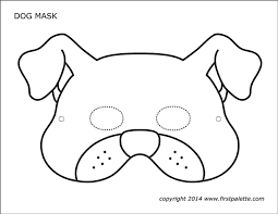 The biggest collection of printable paper masks for kids to make and play with! Dog Or Puppy Masks Free Printable Templates Coloring Pages Firstpalette Com Animal Mask Templates Dog Mask Animal Masks