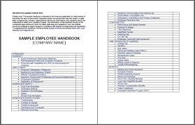 Employee Training Manual Template Barca Fontanacountryinn Com