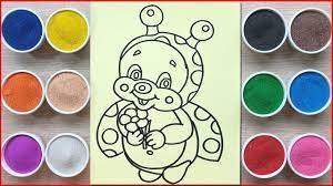 Đồ chơi trẻ em TÔ MÀU TRANH CÁT CON BỌ CÁNH CAM - Colored sand painting  toys (Chim Xinh) - YouTube