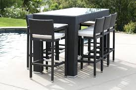 famous patio bar table set stool and sets