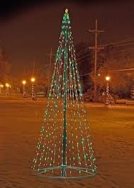 Telescoping Flagpole Multi-Color Christmas Tree Display ...