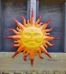 garden decor metal sun wall art outdoor