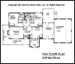 Small Brick Country House Plan SG  Sq Ft   Affordable Small    SG  Main Floor Plan