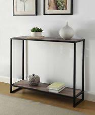 metal hall table. Accent Console Table Furniture Modern Black Hall Sofa Entry Metal Weathered Grey L
