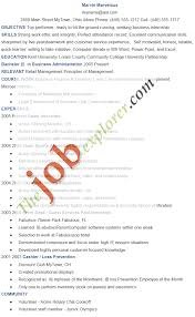 Simple Job Resume Outline Housekeeping Resume Sample Monster Com With Best Resume Format To