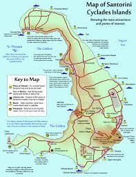map of santorini in english  plus free printable map