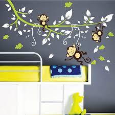 monkey tree birds animal nursery
