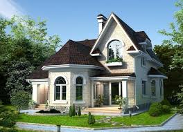 house with bay window. Plain Bay Threedimensional Design Twostorey Houses With Bay Windows And A Loft In House With Window R