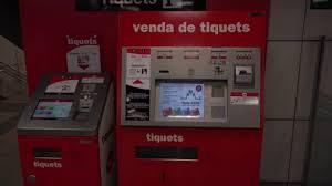 Vending Machine In Spanish Impressive Video Ticket Vendor Machine Spanish Language Barcelona Subway Scene