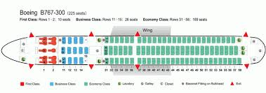 767 300 aircraft seating chart airline boeing