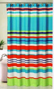 teal striped shower curtain. bold stripes fabric shower curtain ~ multi-color 70\ teal striped shower curtain y