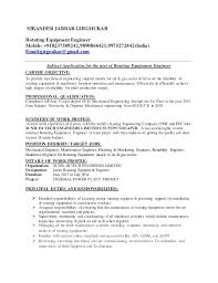 Career Objective To Provide Engineering With Mechanical Resume