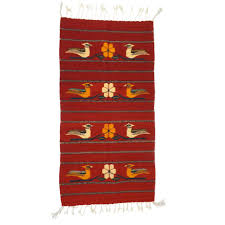 red cochineal throw rug
