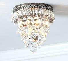 small flush mount chandelier
