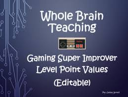 Point Valuation Charts Whole Brain Teaching Gaming Super Improver Level Point