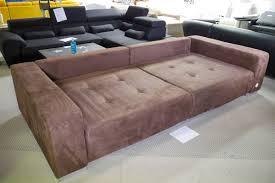 Kabs Sofa Wohnlandschaft In Braun Mit Schlaffunktion