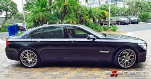 BMW Convertible 2004 bmw 750 : 22 inch Staggered Avant Garde Silver on 2013 BMW 7 Series w/ Specs ...