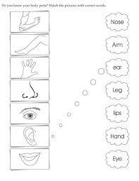 Image result for body parts worksheet for preschool | Amalia ...