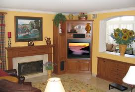 breathtaking living room decoration with corner fireplace entertainment center archaic living room design and decoration