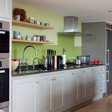 Grey and green traditional kitchen | Kitchen decorating