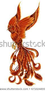 Stock Vektory Na Téma Phoenix Fire Bird Illustration Character