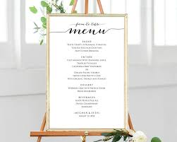 french menu template 12x18 farm to table menu template editable