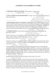 Attorney Engagement Letter For Law Firm Client Engagement