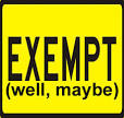 Images & Illustrations of exemption