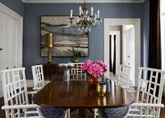 dining room paint color and dark wood table