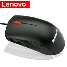 Original <b>Lenovo M120</b> Mouse, Black with Red scroll button, <b>wired</b> ...