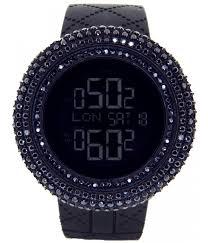 mens king master 25 00ct black lab made diamond watch very rare