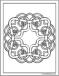 Small Picture Irish Celtic Coloring Pages Square Knots Pattern
