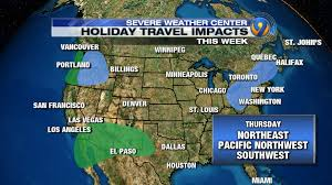 holiday travel daily forecast and impacts across the country