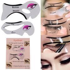 details about eyeliner stencil eyeshadow guide smokey cat quick eye 2 pcs makeup tool set