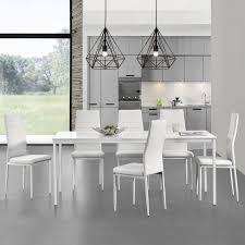Möbel Esstisch Esstisch Herford 160x80cm Weiß Wohnzimmer