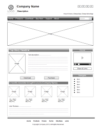 website wireframe template in pdf format