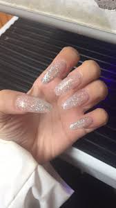 Clear Nails With Sparkles