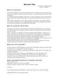 Article On Resume Tips Resume Communication