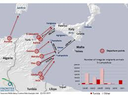 63 Tunisian Youth Migrant Refugees On Italys Island Of Lampadusa